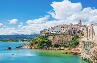 Vieste panoramic view, Apulia,south Italy